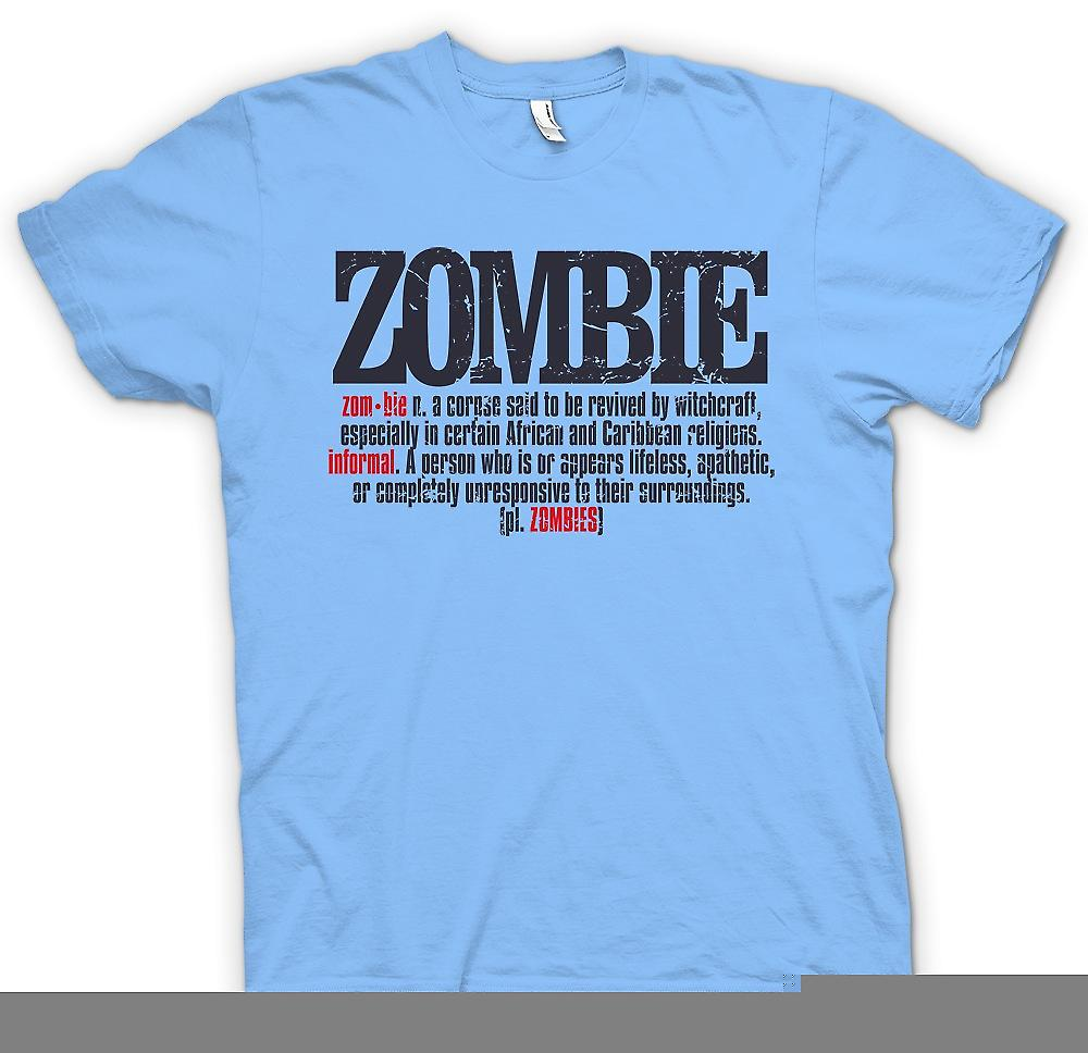 Mens T-shirt - Zombie Defination - Design Cool