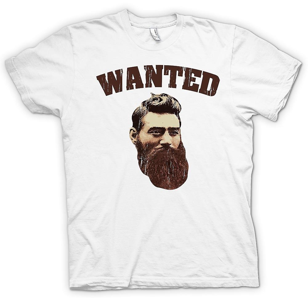 Mens T-shirt - Ned Kelly alte Portrait - australische kriminelle Legende