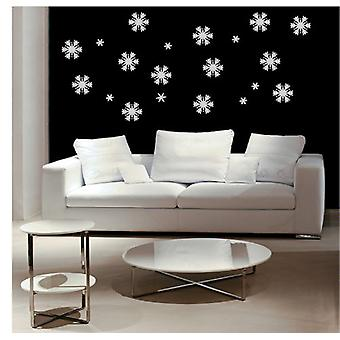 Large Set of Christmas Snowflakes and Stars Wall Art Window Sticker