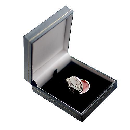 Silber graviert 23mm flache runde Medaillon