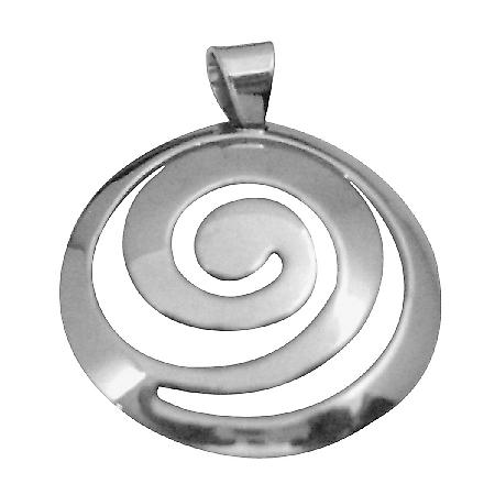 Multi Round Sterling Silver Pendant w/ Stamped 92.5 Sterling Silver