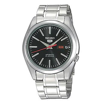 Seiko 5 Automatic Black Dial Stainless Steel Men's Watch SNKL45K1