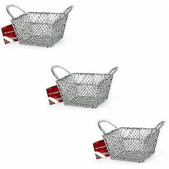 Silver Glitter Display/Gift/Pot Pourri Basket 3.5 Inch 9cm Set Of 6 - (F1605312)