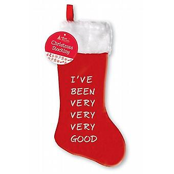 Christmas Stocking 69cm - I've Been Very Very Good 6 Pack - (SVGD)