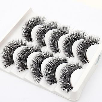 5-pair false eyelashes-6 d faux mink-G202