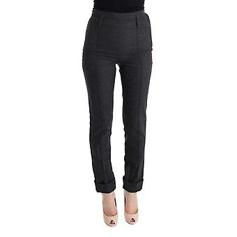 Ermanno Scervino Gray Virgin Wool Skinny Casual Pants -- SIG3686576