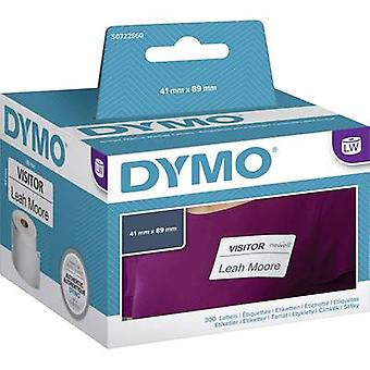 DYMO S0722560 Label roll 89 x 41 mm Paper White 300 pc(s) Removable Name stickers