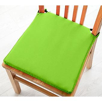 Pack of 2 Cotton Twill Dining Chair Seat Pad Cushion - Lime