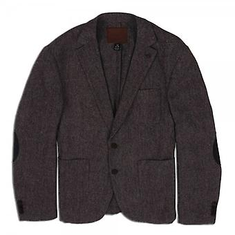 Scotch & Soda Unlined Dress Blazer With Leather Suede Elbow Patches