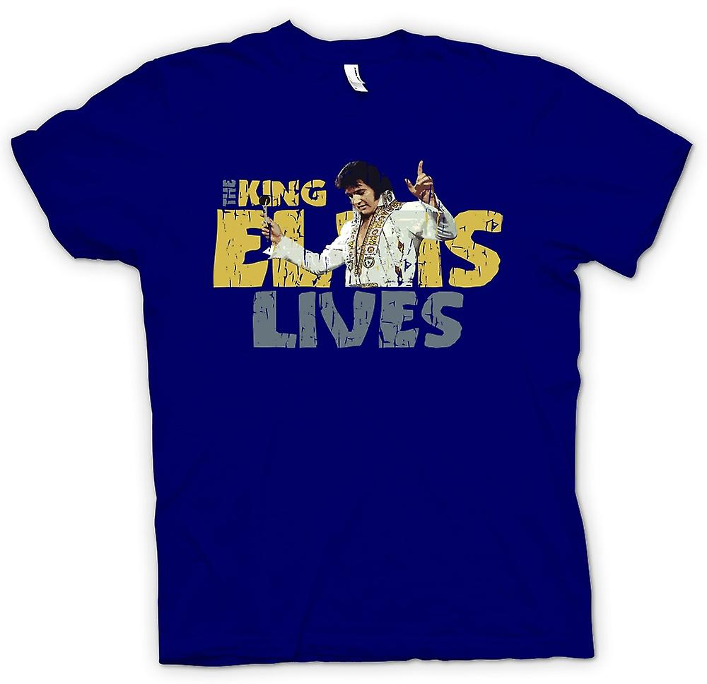 Mens t-shirt - il re - Elvis Lives