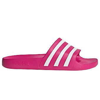 adidas Adilette Aqua Womens Pool Flip Flop Slide Sandal Pink/White