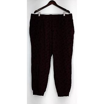 Anybody Lounge Pants, Sleep Shorts Loungewear Cozy Knit Novelty Red A296084