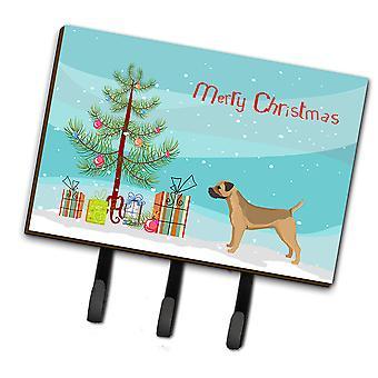 Border Terrier Christmas Tree Leash or Key Holder