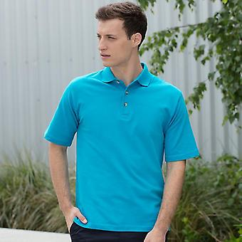 Henbury classic cotton piqué polo with stand up collar hb100