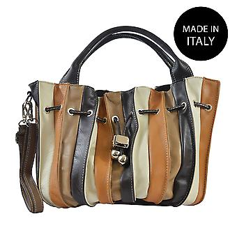 Handbag made in leather Italy 80012
