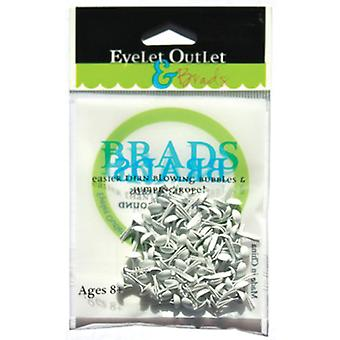 Eyelet Outlet 4Mm Round Brads 70 Pkg White Brd4mm 292