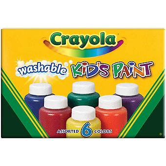 Crayola Washable Kid's Paint 6 Pkg 54 1204