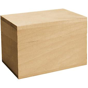 Basswood Hinged Recipe Box 5.88