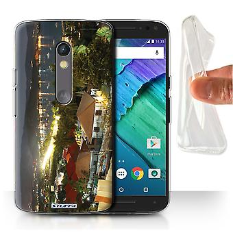 STUFF4 Gel/TPU Case/Cover for Motorola Moto X Play 2015/Urban Coastline/Thailand Scenery