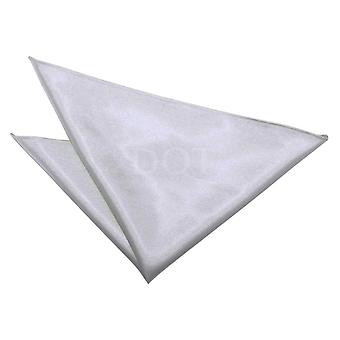Silver Plain Satin Handkerchief / Pocket Square