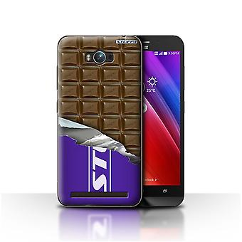STUFF4 Case/Cover for Asus Zenfone Max ZC550KL/Wrapped Blocks/Slab/Chocolate