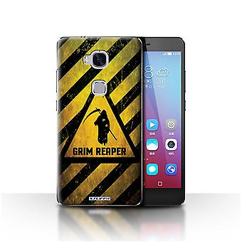 STUFF4 Case/Cover for Huawei Honor 5X/GR5/Death/Reaper/Hazard Warning Signs