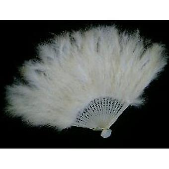 Fans - Feathered Fan in White. Beautiful for that night out
