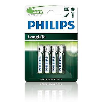 Batterie Philips Longlife Aaa R03 12 X Bls4