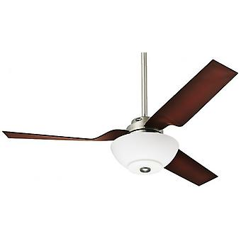 "Ceiling Fan FLIGHT 132 cm / 52"" brushed chrome with light"