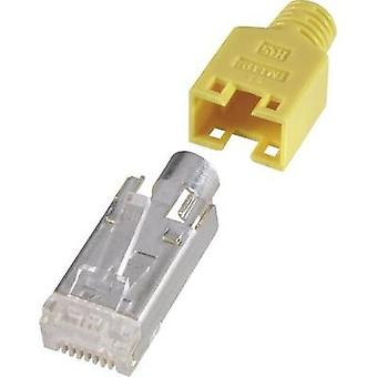 Hirose Electronic RJ45 Shielded Network Connector, CAT 5e, Yellow RJ45 Plug, straight Yellow