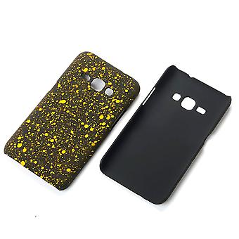 Cell phone cover case bumper shell for Samsung Galaxy J1 2016 3D star yellow