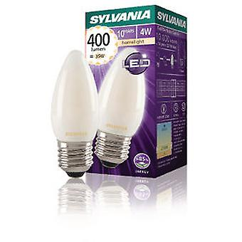 Sylvania Led Filament Lamp Candle E27 4W 400Lm Satin (Verlichting , Spaarlampen)