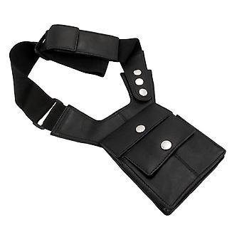 Napa Leder schwarz Schulterholster Reisebrieftasche