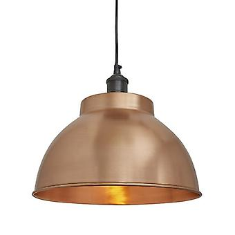 Brooklyn Vintage Metal Dome Pendant Light - Copper - 13