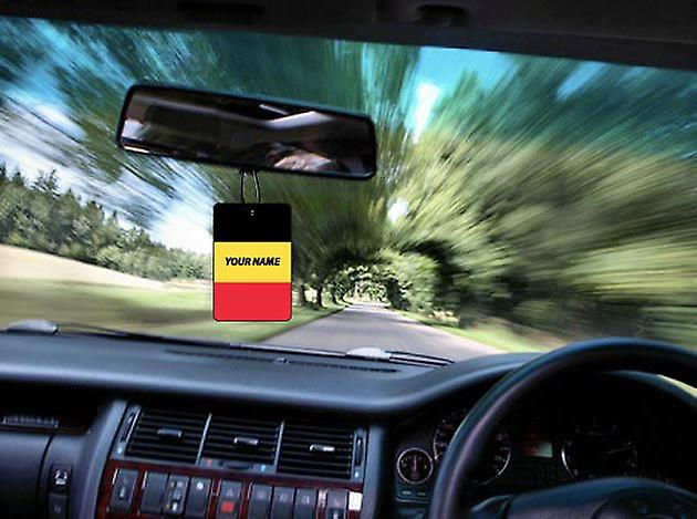 Belgium Flag Personalised Car Air Freshener