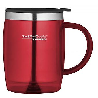 Genuine Thermos ThermoCafe Zest Red Hot and Cold Stainless Steel Desk Mug 450ml
