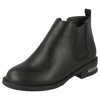 Girls Spot On Chelsea Style Ankle Boots