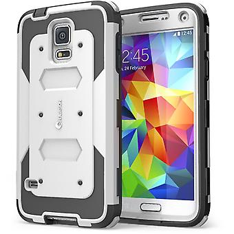 i-Blason Galaxy S5 Armorbox Series Case with Screen - White