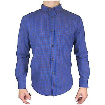 Red Herring lange mouwen blauw/rood Mini Check Shirt TP492-Medium