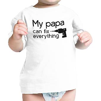 My Papa Fix White Cute Graphic Infant T-Shirt Gifts For Baby Shower