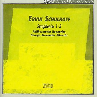E. Schulhoff - Ervin Schulhoff: Importación de Estados Unidos sinfonías 1-3 [CD]
