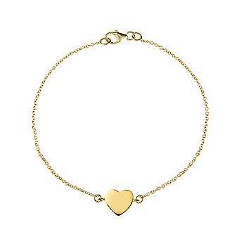 Latelita Bracelet Plain 925 Sterling Silver Love Heart Adjustable Rose Gold
