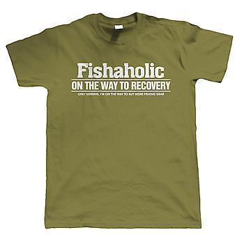 Fishaholic, Mens Funny Fishing T Shirt