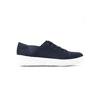 Women's F-sportieve Canvas Trainers - Supernavy