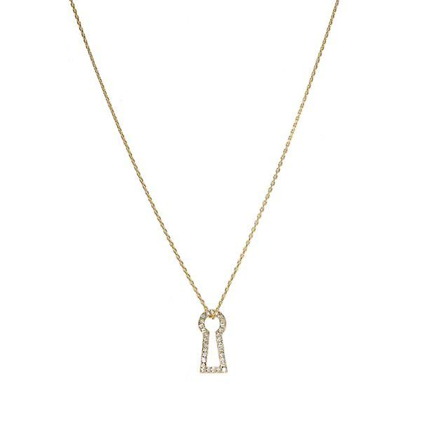 W.A.T Crystal Through The Keyhole Necklace