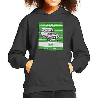 Haynes Workshop manuelle 0313 Toyota Landcruiser Streifen Kinder Sweatshirt mit Kapuze