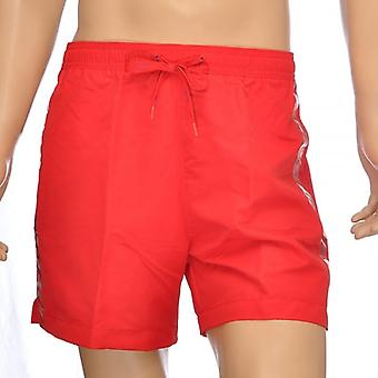 Calvin Klein CK One Logo Tape Swim Shorts, rouge, grand