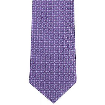 Michelsons of London Mini Grid Silk Tie - Purple