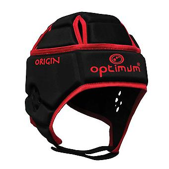 OPTIMAL ursprung rugby headguard [svart/röd]