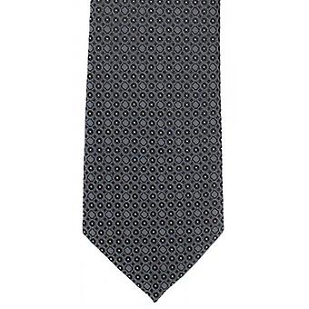 Michelsons of London Geometric Circle Polyester Tie - Black